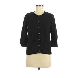 Christopher & Banks black Cardigan button up M